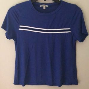 Charlotte Russe, royal blue tee with stripe